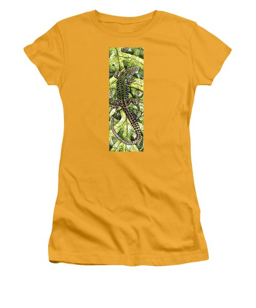 Lizard In Green Nature - Elena Yakubovich Women's T-Shirt (Athletic Fit)