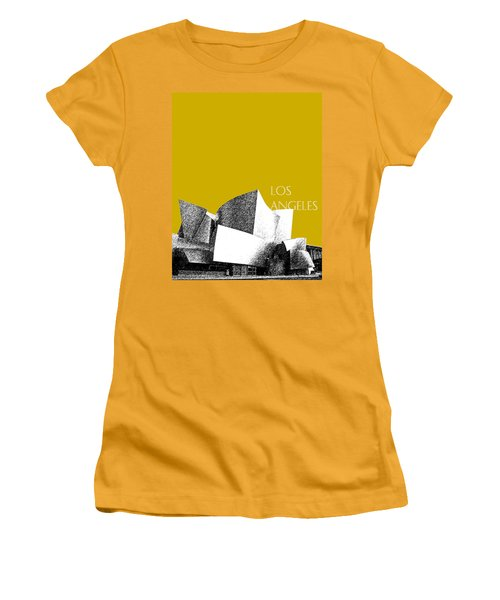 Los Angeles Skyline Disney Theater - Gold Women's T-Shirt (Athletic Fit)