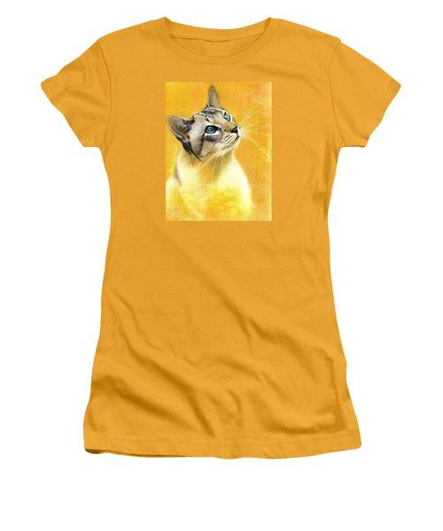 Lynx Point Siamese Women's T-Shirt (Junior Cut) by VLee Watson