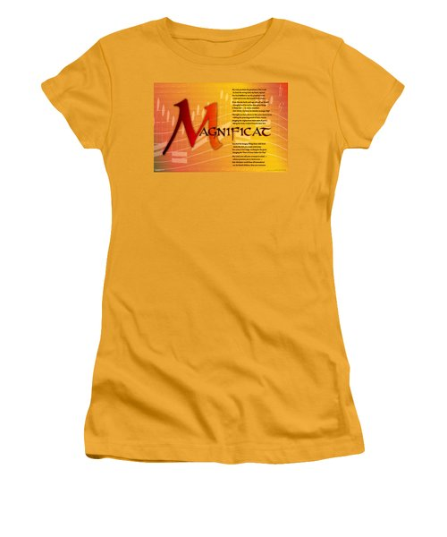 Magnificat Women's T-Shirt (Junior Cut) by Chuck Mountain