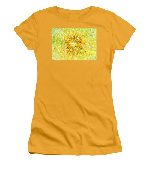 Make A Wish In Greenish Yellow Women's T-Shirt (Athletic Fit)