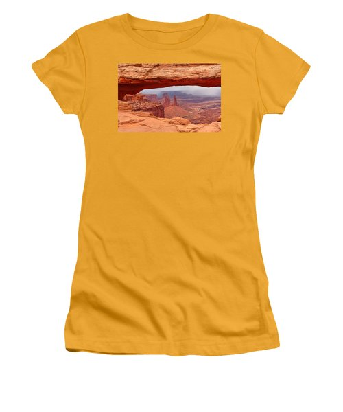 Mesa Arch In Canyonlands National Park Women's T-Shirt (Junior Cut) by Mitchell R Grosky