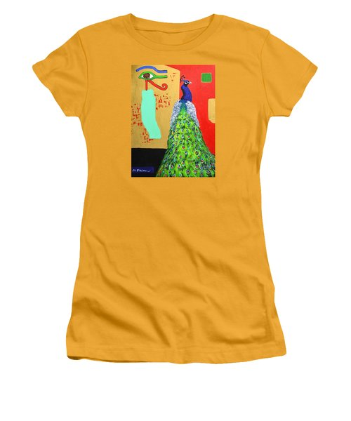 Women's T-Shirt (Junior Cut) featuring the painting Messages by Ana Maria Edulescu