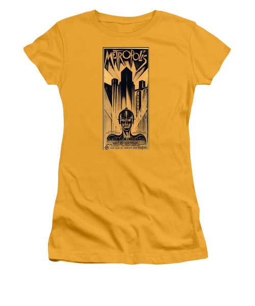 Metropolis Poster Women's T-Shirt (Athletic Fit)