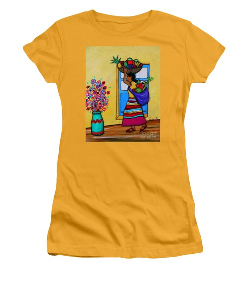 Mexican Street Vendor Women's T-Shirt (Athletic Fit)