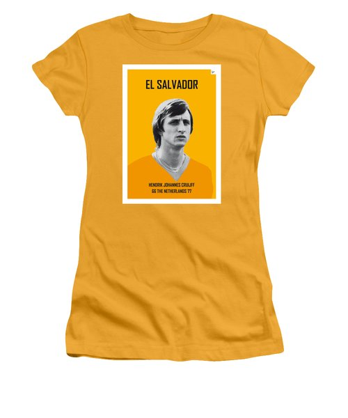 My Cruijff Soccer Legend Poster Women's T-Shirt (Athletic Fit)