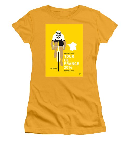 My Tour De France Minimal Poster 2014 Women's T-Shirt (Junior Cut) by Chungkong Art