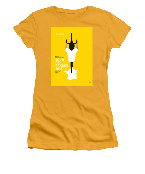 My Tour De France Minimal Poster Women's T-Shirt (Junior Cut) by Chungkong Art