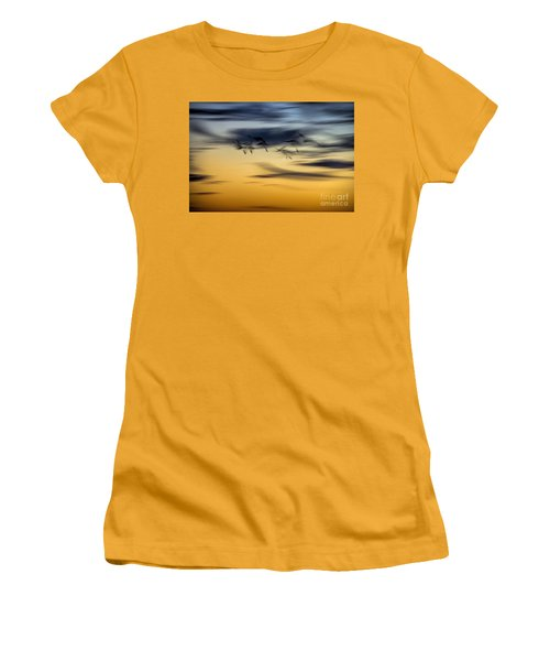 Natural Abstract Art Women's T-Shirt (Athletic Fit)