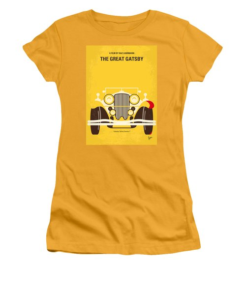 No206 My The Great Gatsby Minimal Movie Poster Women's T-Shirt (Athletic Fit)