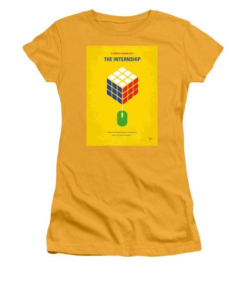 No215 My The Internship Minimal Movie Poster Women's T-Shirt (Athletic Fit)