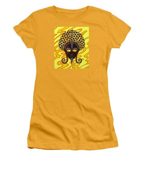 Nubian Modern Afro Mask Women's T-Shirt (Junior Cut) by Joseph Sonday