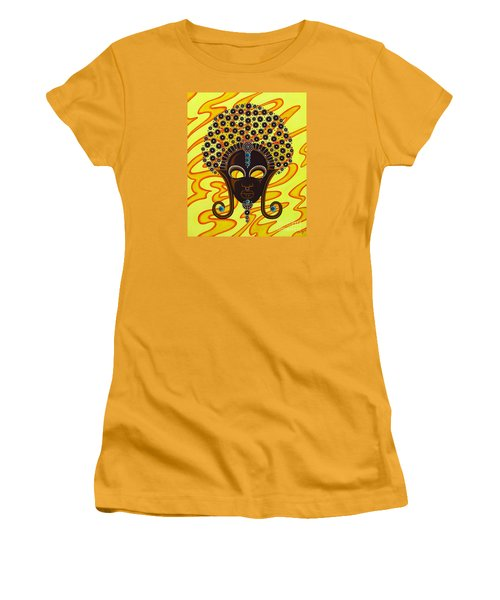 Nubian Modern Afro Mask Women's T-Shirt (Athletic Fit)