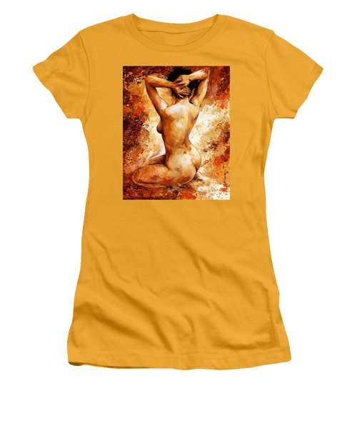 Nude 06 Women's T-Shirt (Junior Cut) by Emerico Imre Toth