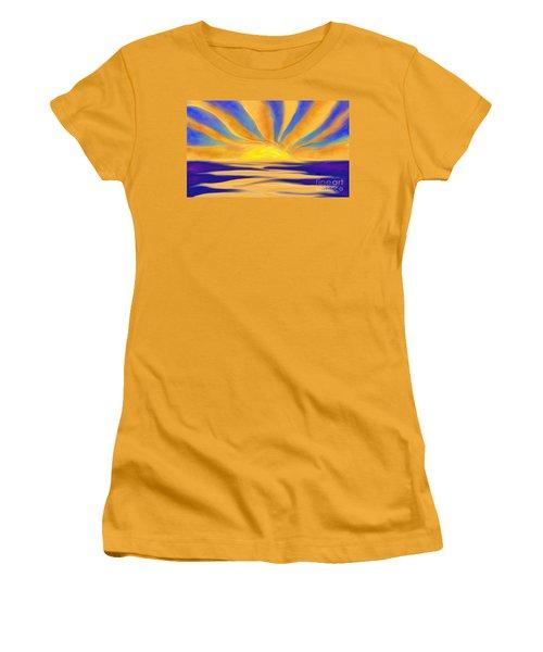 Ocean Sunrise Women's T-Shirt (Junior Cut) by Anita Lewis