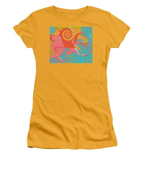 Octopus 1 Women's T-Shirt (Junior Cut) by David Klaboe