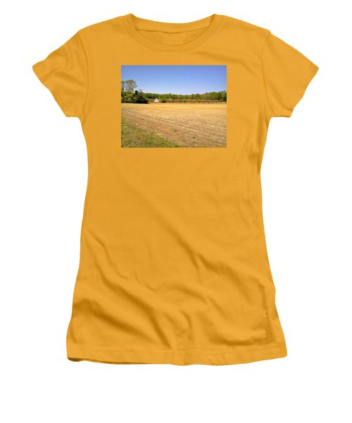 Old Chicken Houses Women's T-Shirt (Junior Cut) by Amazing Photographs AKA Christian Wilson