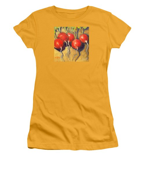 Organic Radishes Still Life Women's T-Shirt (Junior Cut) by Mary Hubley