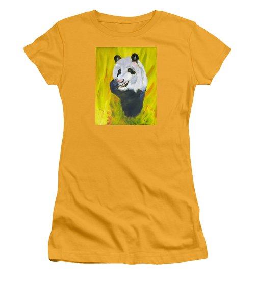 Panda-monium Women's T-Shirt (Junior Cut) by Meryl Goudey