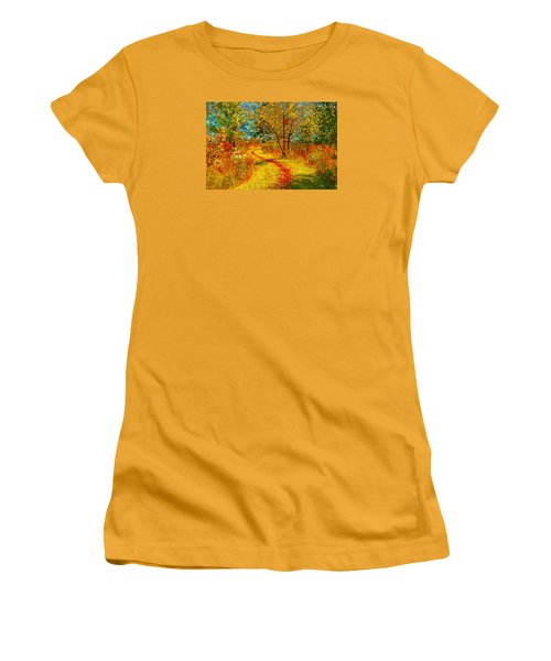 Path Through The Woods Women's T-Shirt (Junior Cut) by William Beuther