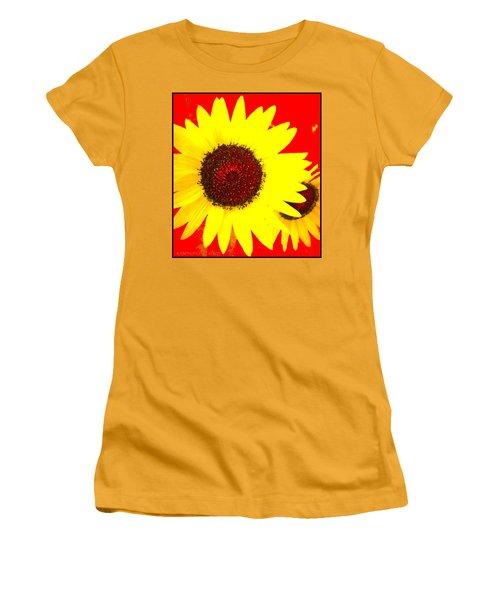 Peek A Boo Women's T-Shirt (Junior Cut) by Kathy Barney