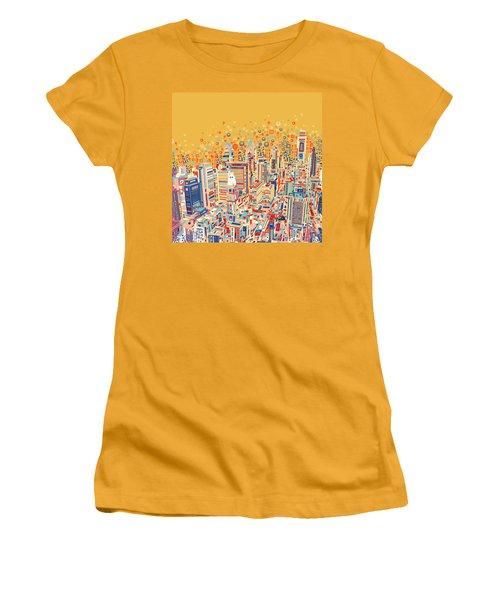 Philadelphia Panorama Pop Art Women's T-Shirt (Athletic Fit)