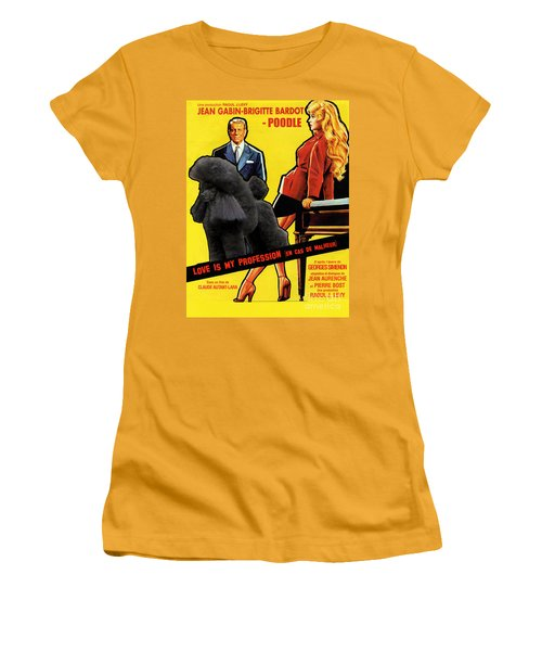 Poodle  Art - Love Is My Profession Women's T-Shirt (Athletic Fit)