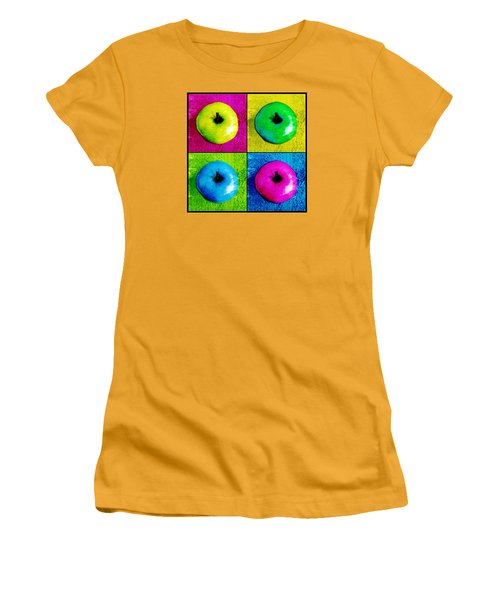 Pop Art Apples Women's T-Shirt (Junior Cut) by Shawna Rowe