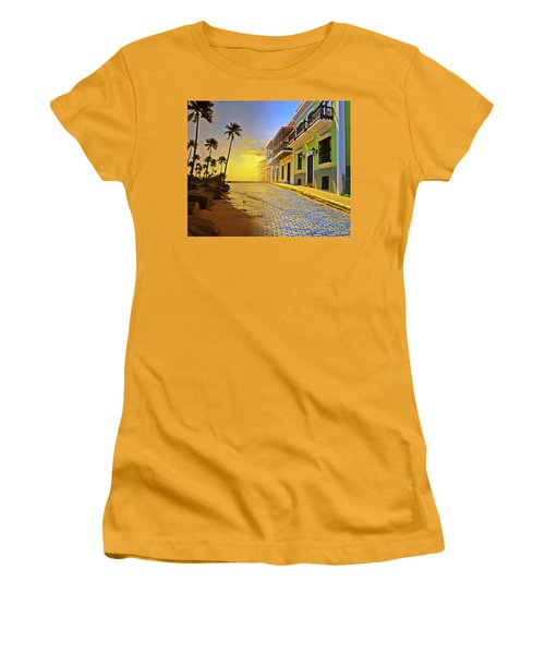 Puerto Rico Collage 2 Women's T-Shirt (Junior Cut) by Stephen Anderson