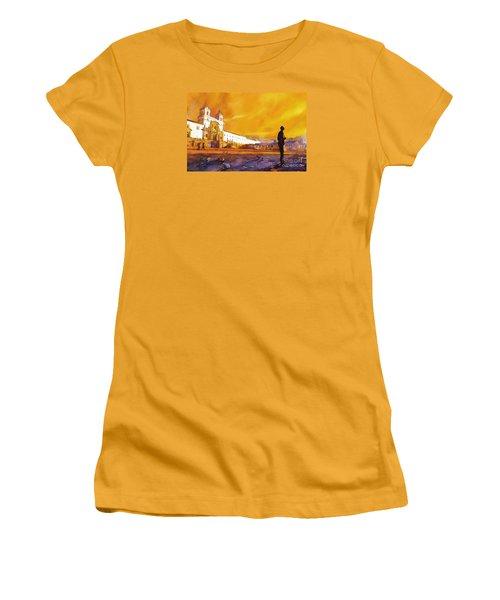 Quito Sunrise Women's T-Shirt (Junior Cut) by Ryan Fox