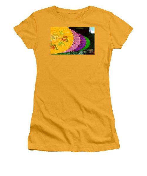 Women's T-Shirt (Junior Cut) featuring the photograph New Orleans Rainbowellas by Michael Hoard