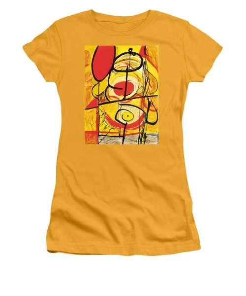 Women's T-Shirt (Junior Cut) featuring the painting Relativity 3 by Stephen Lucas