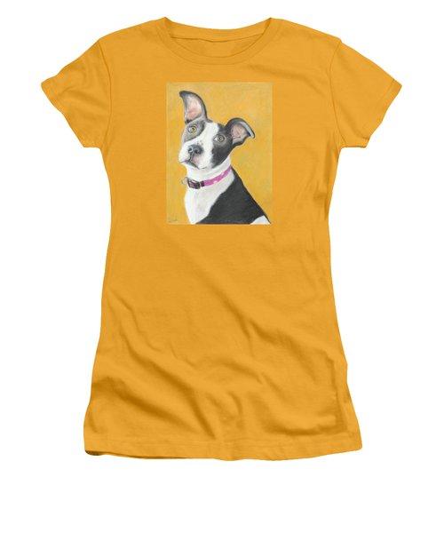 Rescued Pit Bull Women's T-Shirt (Junior Cut) by Jeanne Fischer