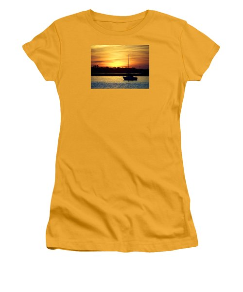 Women's T-Shirt (Junior Cut) featuring the photograph Resting In A Mango Sunset by Sandi OReilly