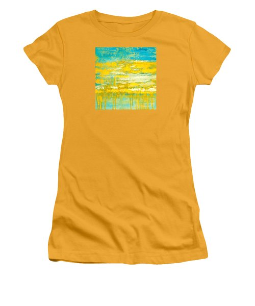 Women's T-Shirt (Junior Cut) featuring the painting River Of Praise by Donna Dixon
