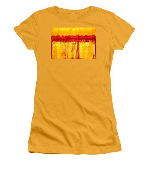 Rocky Mountains Original Painting Women's T-Shirt (Junior Cut) by Sol Luckman