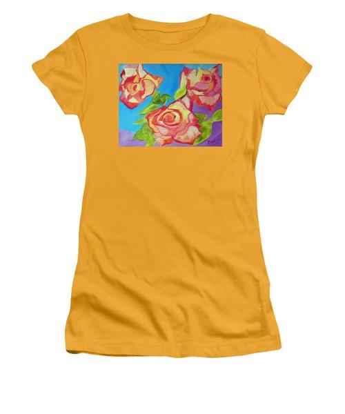 Rosey Women's T-Shirt (Junior Cut) by Meryl Goudey