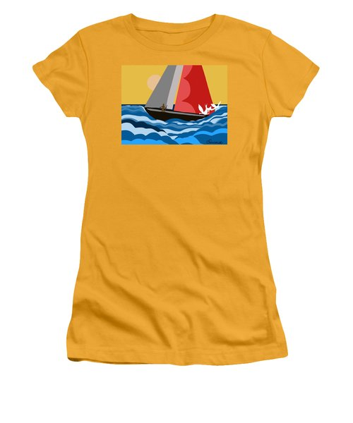 Sail Day Women's T-Shirt (Junior Cut) by Christine Fournier
