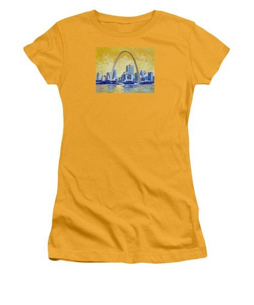 Saint Louis Skyline 1 Women's T-Shirt (Junior Cut) by Irek Szelag