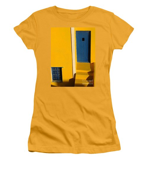 Santorini Doorway Women's T-Shirt (Junior Cut) by Suzanne Oesterling