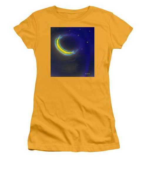 Seven Stars And The Moon Women's T-Shirt (Junior Cut) by RC deWinter