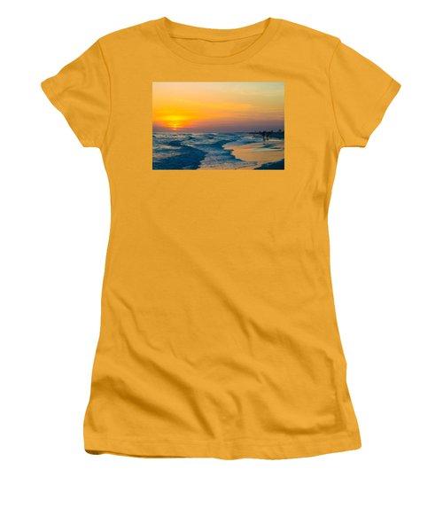 Siesta Key Sunset Walk Women's T-Shirt (Athletic Fit)
