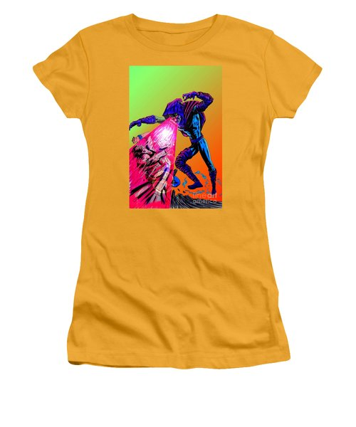 Women's T-Shirt (Junior Cut) featuring the drawing Sleepwalker 1d by Justin Moore