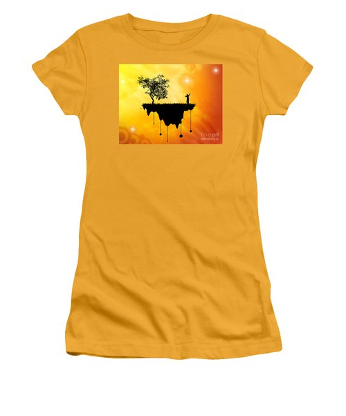 Women's T-Shirt (Junior Cut) featuring the digital art Slice Of Earth by Phil Perkins