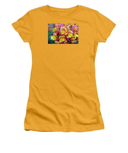 Women's T-Shirt (Junior Cut) featuring the photograph Snapdragons by Cassandra Buckley