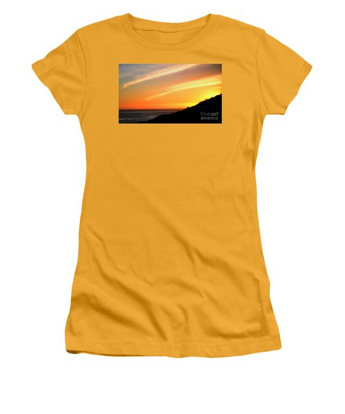 Women's T-Shirt (Athletic Fit) featuring the photograph Socal Coastal Sunset by Clayton Bruster