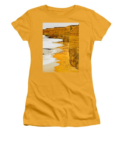 Southern Ocean Cliffs Women's T-Shirt (Athletic Fit)