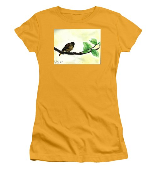 Sparrow On A Branch Women's T-Shirt (Junior Cut)