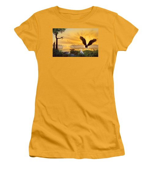 Spirit Of The Everglades Women's T-Shirt (Athletic Fit)