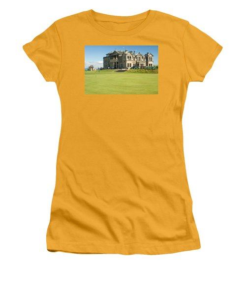St Andrews Final Green And Clubhouse  Women's T-Shirt (Junior Cut) by Jeremy Voisey